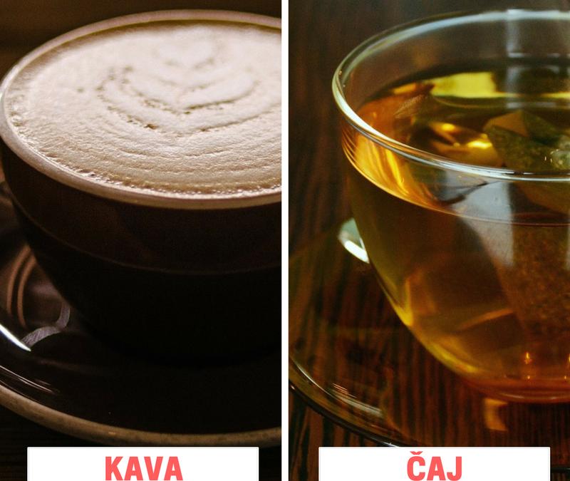 Kaj imate raje: KAVA ali ČAJ